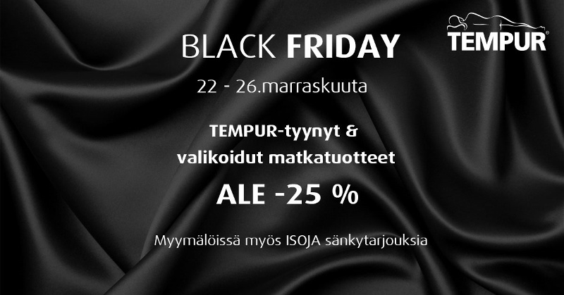 Tempur Brand Store & Outlet TEMPUR BLACK FRIDAY