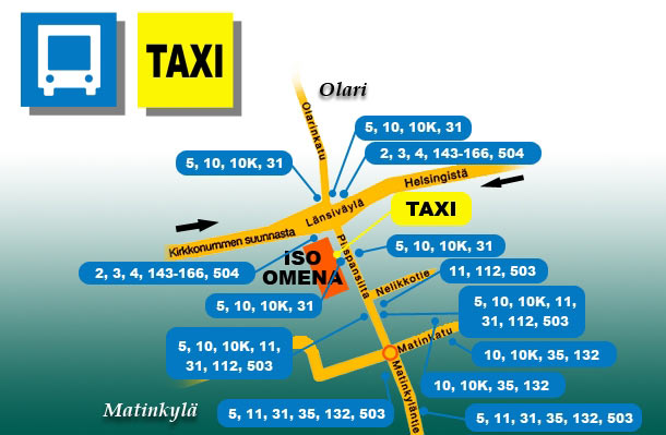 Buses and taxis